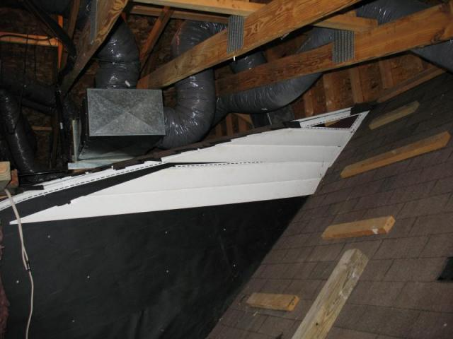 Attic Heat Pump Installation